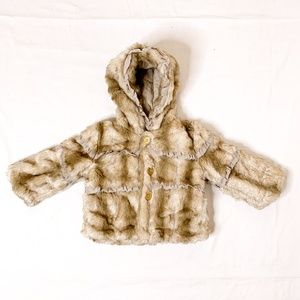 JUICY COUTURE Girls Faux Fur Hooded Coat 24m 1308